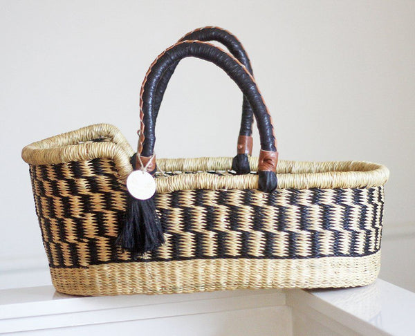 'Midnight' Mini Moses Doll Basket