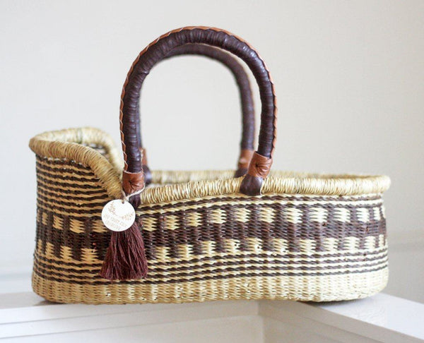 'Jabari - Brown' Mini Moses Doll Basket