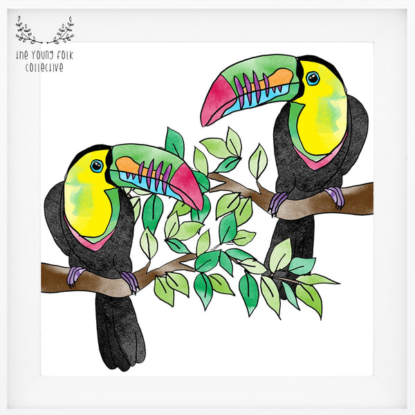 nursery print toucan fun