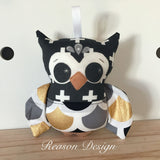 Baby boy Owl Rattle - lots of colours