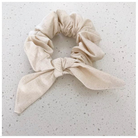 Top knot scrunchies - plain colours