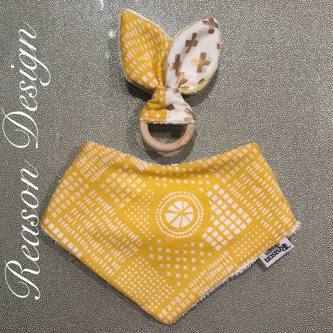 Bandana bibs & teething ring sets