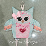 Personalised OWL hair clip and accessories holder