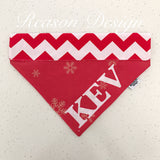 Red personalised pet bandana