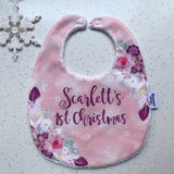 Personalised My 1st Christmas Baby Bib