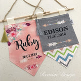 Personalised Banner/Pennant wall hanging