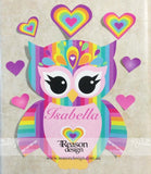 Removable rainbow owl wall decal