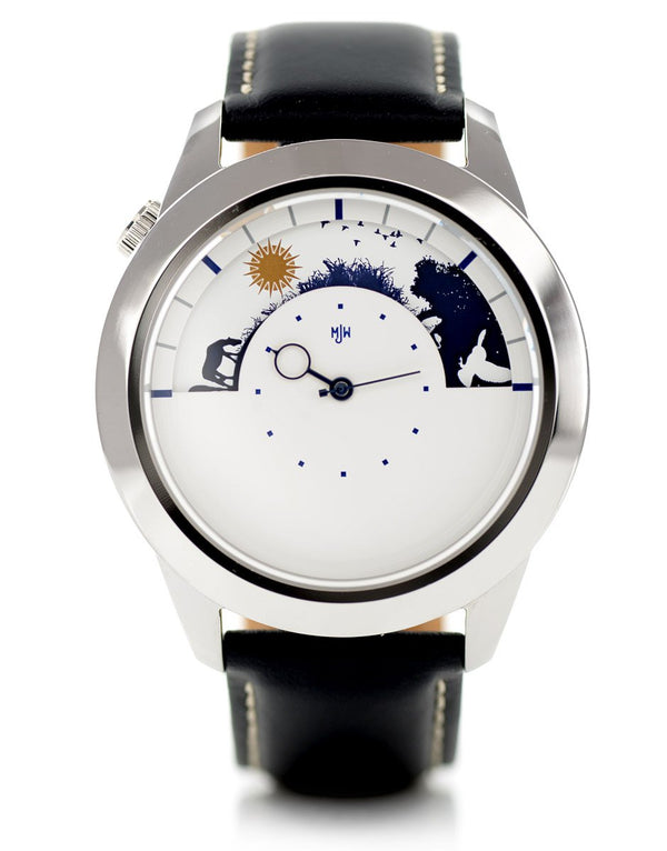Sun and Moon XL watch on stand