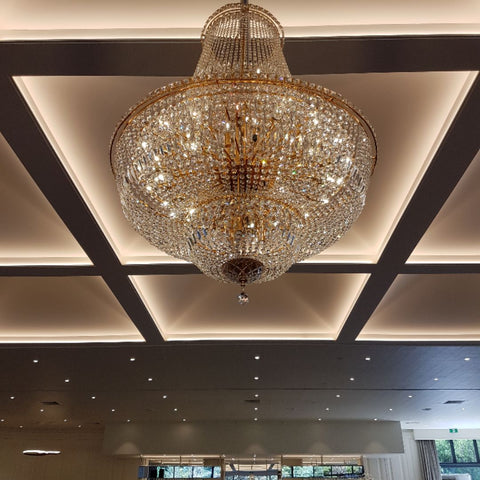 Milan Gold Basket Chandelier 100