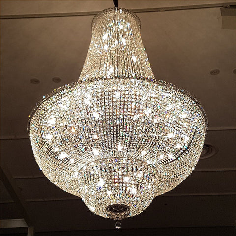 Milan Chrome Basket Chandelier 150