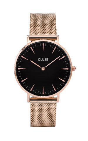 Montre CLUSE La Bohème Mesh Rose Gold-Black CL18113