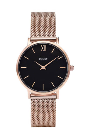 Montre CLUSE Minuit Mesh Rose Gold/Black CL30016