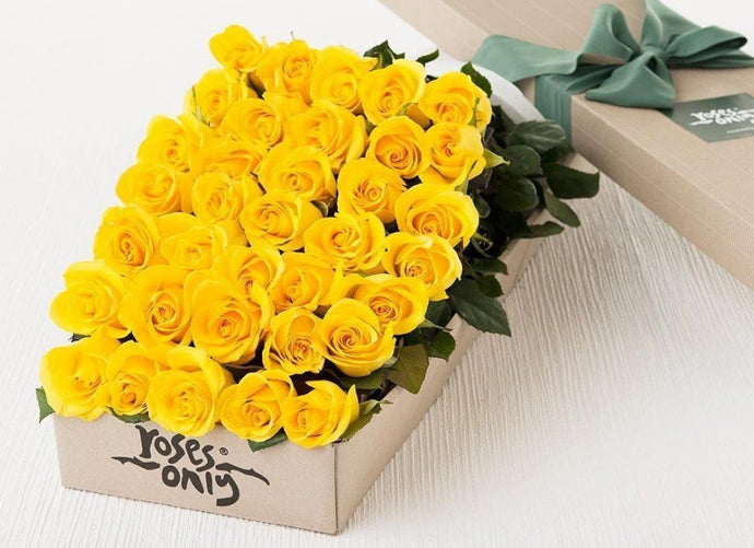 36 Yellow Roses Gift Box