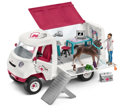 Schleich - 42370 | Horse Club: Mobile Vet With Hanoverian Foal