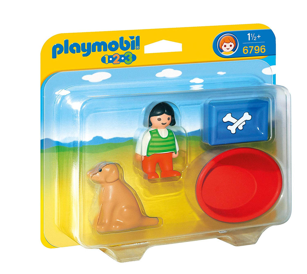 Playmobil - 6796 | 1-2-3: Girl With Dog