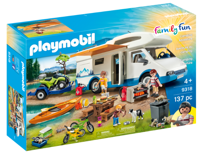 Playmobil - 9318 | Family Fun: Camping Adventure - with Canoe that Floats