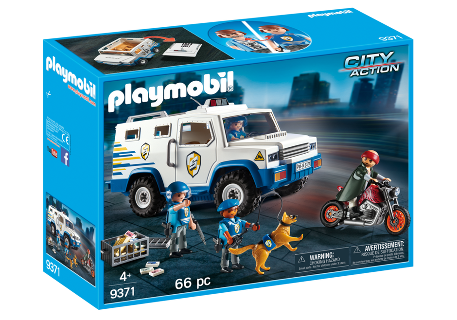 Playmobil - 9371 | City Action: Police Money Transporter