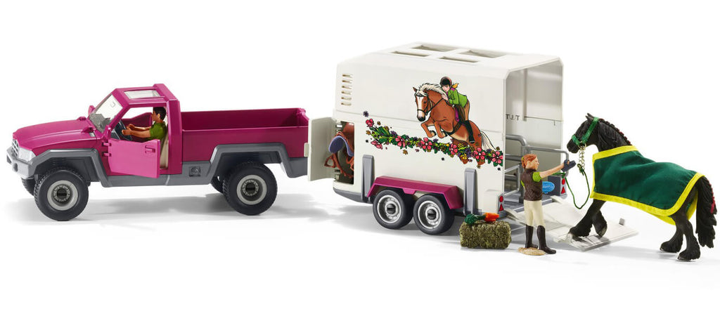 Schleich Pick Up With Horse Trailer - 42346