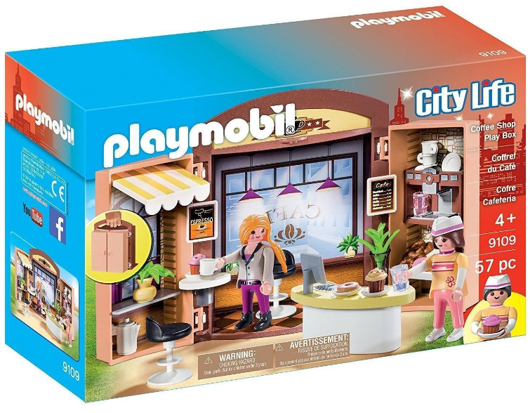 Playmobil - City Life: Coffee Shop Play Box