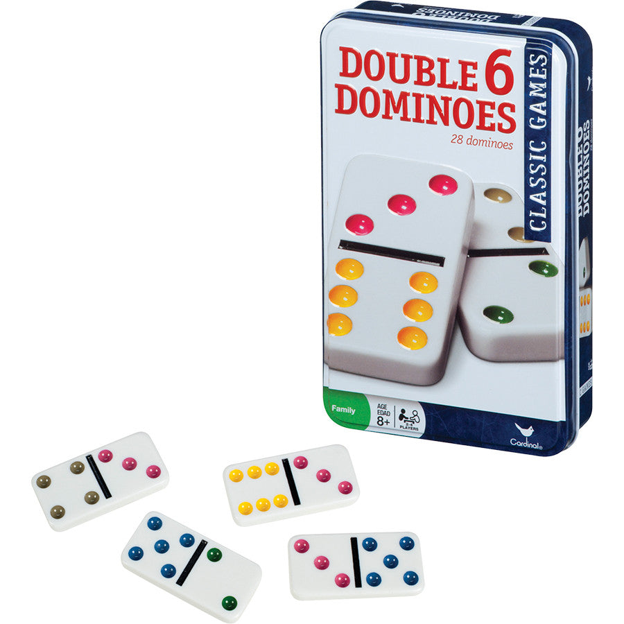 Double Six Dominoes In Tin Case - 8875