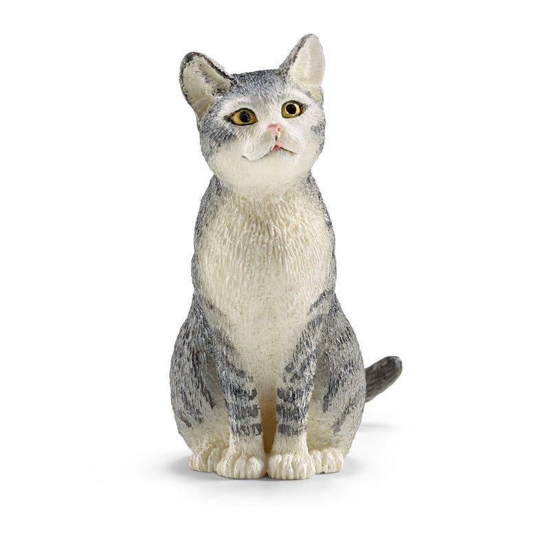 Schleich Grey Cat, Sitting - 13771