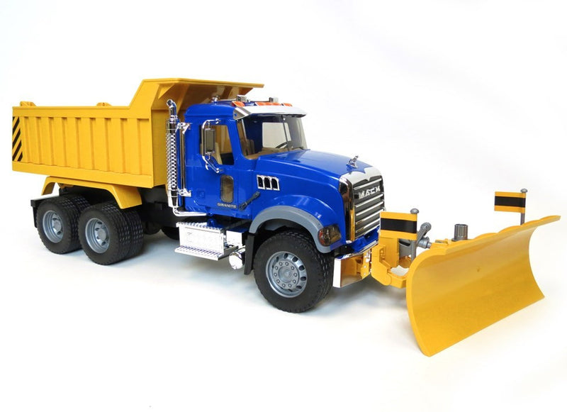 Bruder - 02825 | Commercial: MACK Granite Dump Truck With Snow Plow Blade