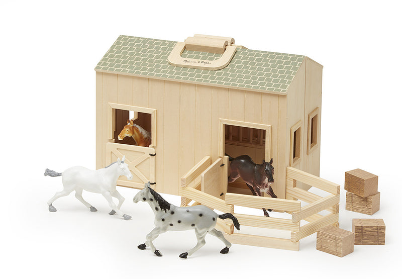 Melissa & Doug 13704 Fold And Go Wooden Stable