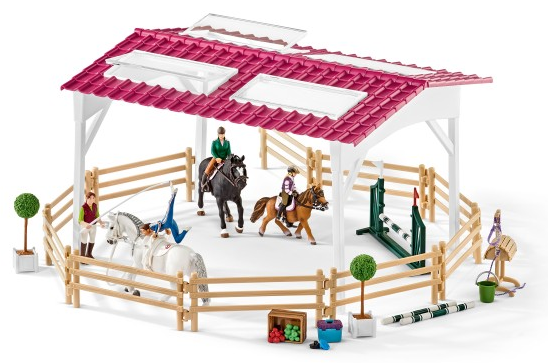 Schleich - 42389 | Horse Club: Riding School With Riders And Horses