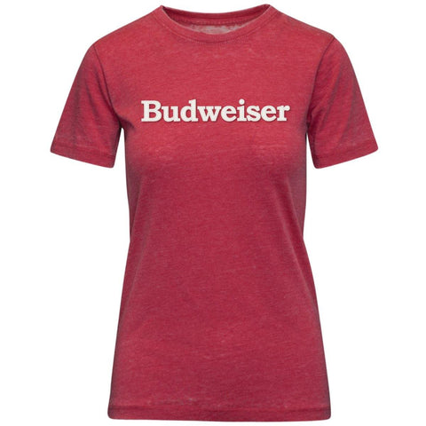 Ladies Budweiser Applique Tee