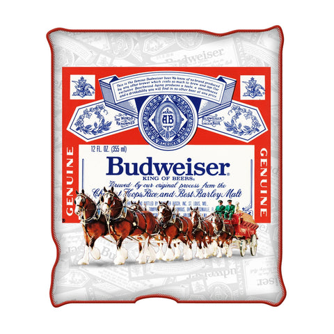 BUD LABEL CLYDESDALE THROW BLANKET