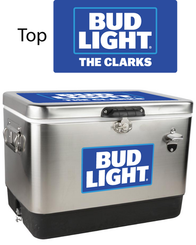 Bud Light Stainless Steel Personalized 54 qt Cooler