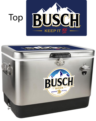 Busch Stainless Steel Personalized 54 qt Cooler