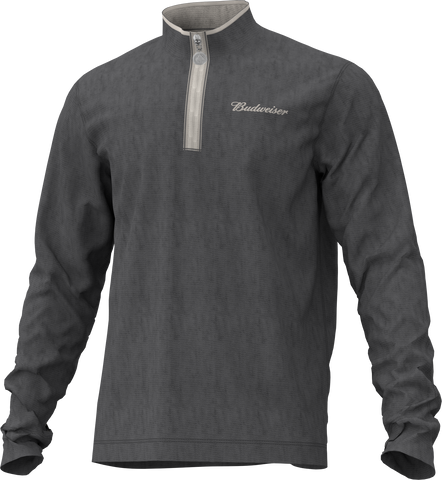 Budweiser 1/4 Zip Sweatshirt- Grey