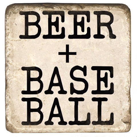 Beer + Baseball Stone Coaster