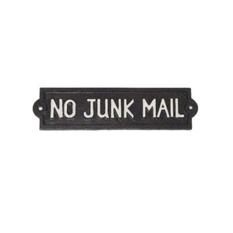 Cast Iron No Junk Mail Sign | The Old Tin Shed