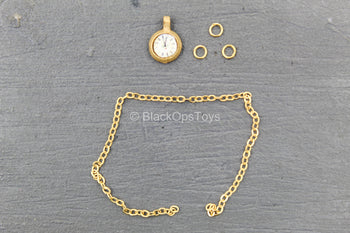 Cowboy - The Bad - Closed Pocket Watch w/Gold Like Chain