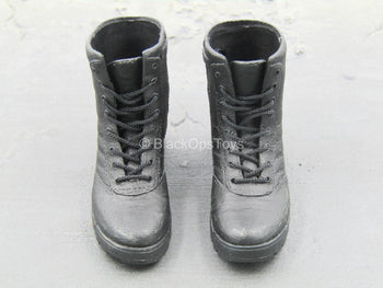 LAPD - SWAT - Black Tactical Boots (Foot Type)