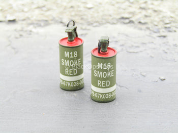 LAPD - SWAT - Red Smoke Grenade Set