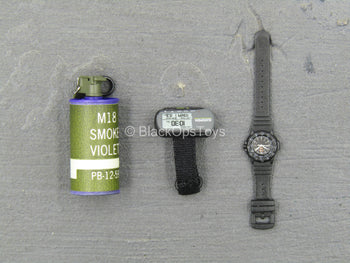 U.S. Air Force TACP/JTAC - Violet Smoke Grenade w/Watch & GPS