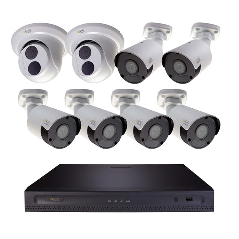 4K Ultra HD 16 Channel IP Security System with 4TB Hard Drive, 6 4K IP Outdoor Bullet Cameras and 2 4K IP Outdoor Dome Cameras with Color Night Vision (H164K5.8) IP HD KIT  - Q-See