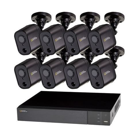8 Channel Analog HD 1080p PIR DVR with (8) 1080p PIR Bullet Cameras and 1TB HDD (QTH98-8GD-1) ANALOG HD KIT  - Q-See