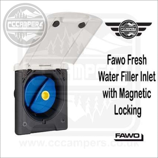 Fawo Fresh Water Filler Inlet Filler with Magnetic Lock and Cap BLACK OR WHITE - Exterior Inlets & Outlets