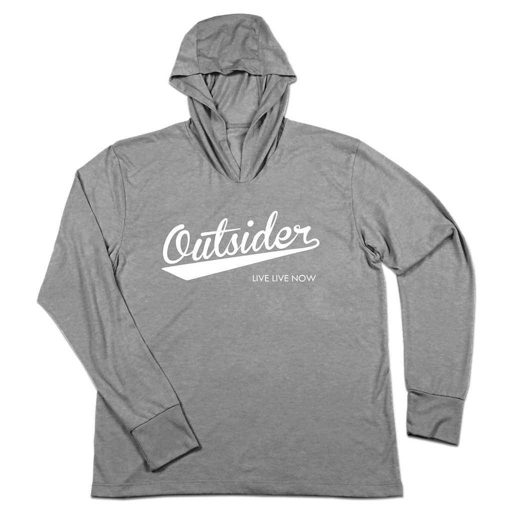#OUTSIDER TriBlend Hoodie Shirt - White - Hat Mount for GoPro