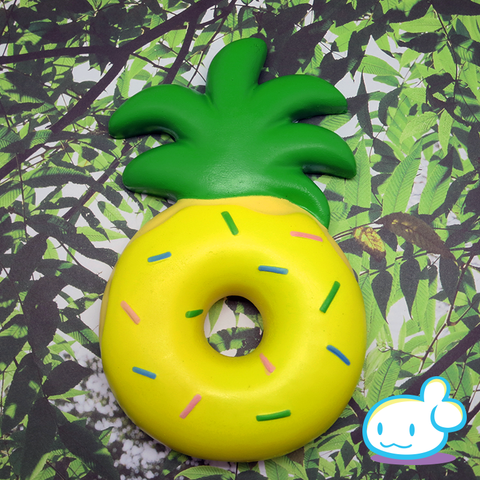 Jumbo Pineapple Donut Squishy