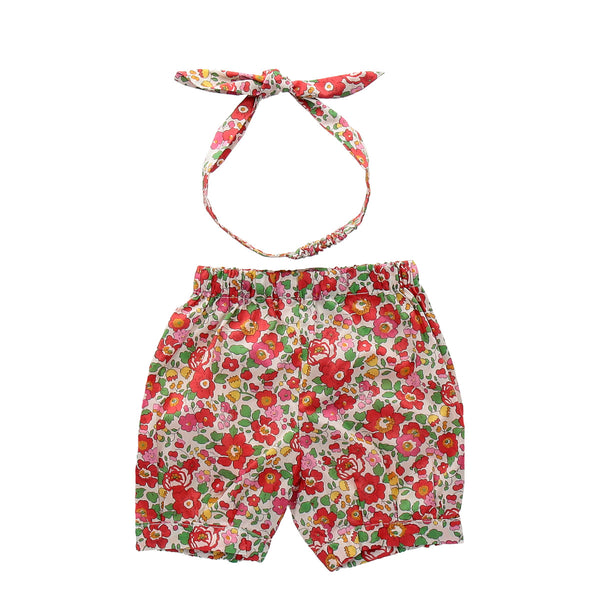 Betsy Scarlet Bow Bloomers