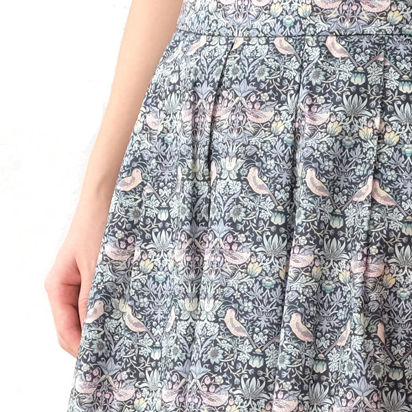 Yumi Strawberry Thief Silver Skirt