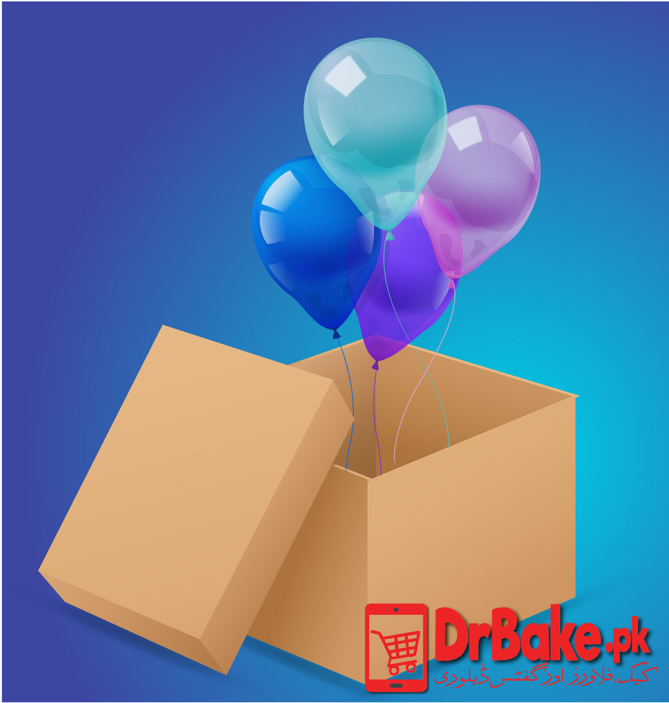 Surprise Balloon Box(4 Balloons) - Dr Bake Pakistan Send gifts to Lahore, Karachi, Islamabad, Pakistan