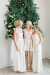 'The Knot' Dress (Custom Colour)| Simple and modern halter neck wedding dress | rehearsal dress dress in Toronto
