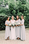 Flowy Wrap Dress in Gray, for bridesmaids in Toronto