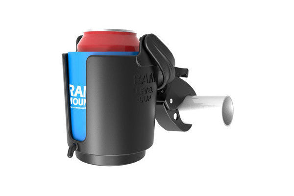 RAM Self-Leveling Cup Holder with Tough-Claw™ Mount - Bike 'N' Biker